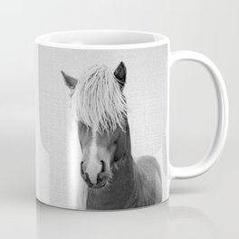 Horse - Black & White Coffee Mug