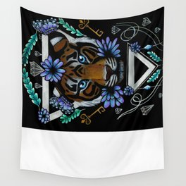 Powerful Tiger  Wall Tapestry