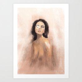 Radiant eye - ipad painting Art Print