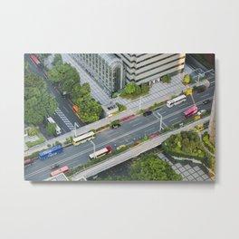 Miniature Tokyo Metal Print
