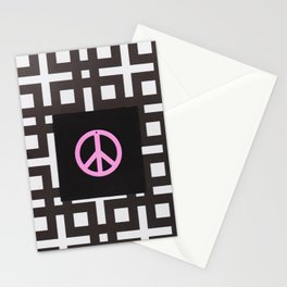 black and white symbol Stationery Cards
