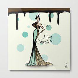 I love Mint Chocolate Metal Print