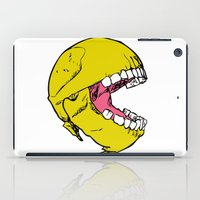 pac man iPad Cases featuring Ancient Pac-man by Sauce Designs