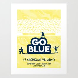 Michigan vs Army - September 7th Art Print