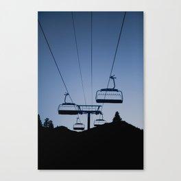 Mammoth Mountain Silhouette Canvas Print