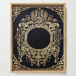 Ornate Gold Frame Book Cover Serving Tray