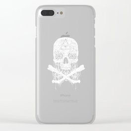 Awesome & Creepy Melting Skull Bones Clear iPhone Case