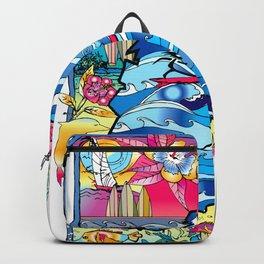 Beach & Flowers Backpack