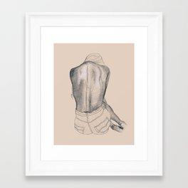 Tan Sketch III Framed Art Print