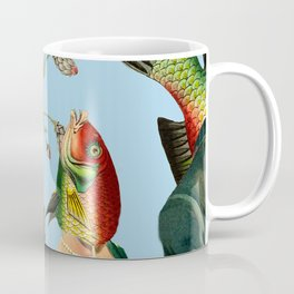 fish soul mate Blue #collage Coffee Mug