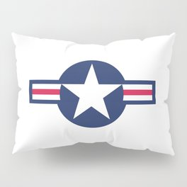US Airforce style roundel star - High Quality image Pillow Sham