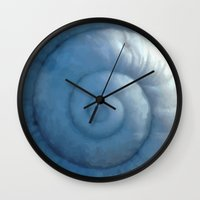 shell Wall Clocks featuring shell by Motif Mondial