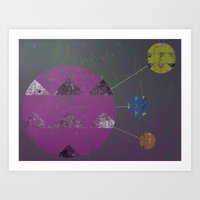 compass Art Prints featuring Compass by Last Call