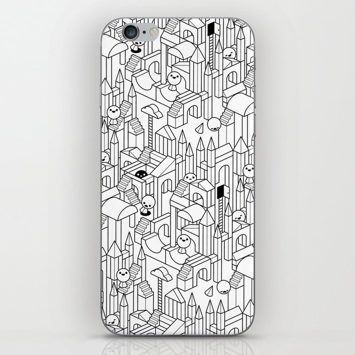 Little Escher's Building Blocks iPhone Skin