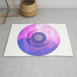 Circles Inside a Circle - Pink Rug