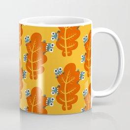 Cute Bugs Eat Autumn Leaf Coffee Mug