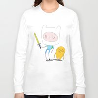 jake Long Sleeve T-shirts featuring Finn & Jake by Rod Perich