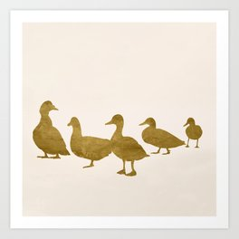 Golden Ducks Art Print