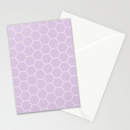 Geometric Honeycomb Pattern - Light Purple #288 Stationery Cards