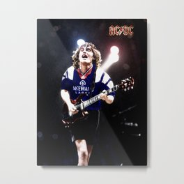 RangersStruck,  Angus Young in colour Metal Print