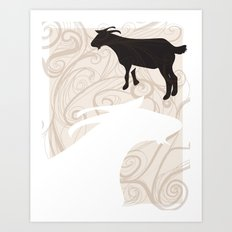 Farm Poster #1 -Goats Art Print