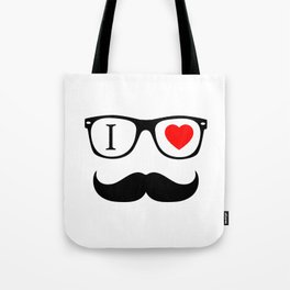 I Love Hipster Tote Bag