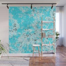 Bubblegum blue ice Wall Mural