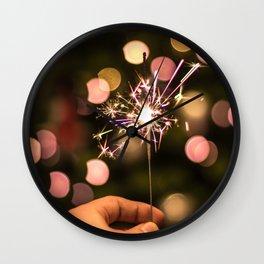 Sparkler (Color) Wall Clock