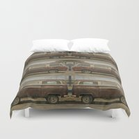 vans Duvet Covers featuring Volkswagen Type 2 (T2) Seventies VW Kombi Van by Bruce Stanfield