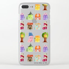 Fairy tale homes Clear iPhone Case