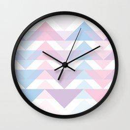 Pastel Pattern Wall Clock
