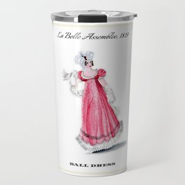 Fashion Plate 1819, Regency England Travel Mug