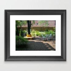 Solitude In The Backyard Garden Framed Art Print