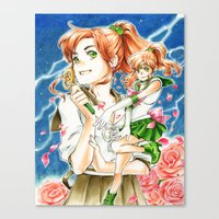 sailor jupiter Canvas Prints featuring Sailor Jupiter by Audra Furuichi