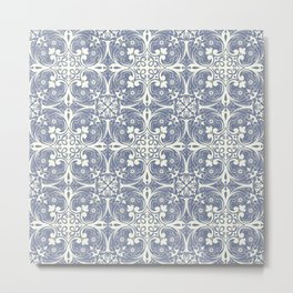 Florence - Light Blue Metal Print