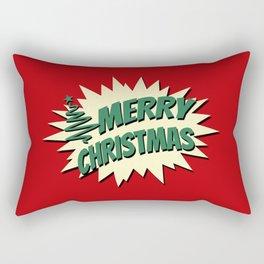 Comic style Christmas design Rectangular Pillow