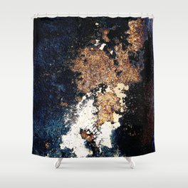 Alien Continents ruined wall texture grunge Shower Curtain