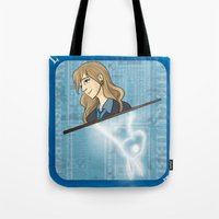 luna lovegood Tote Bags featuring Luna Lovegood by Imaginative Ink
