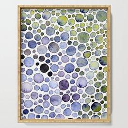 Watercolor Bubbles Serving Tray