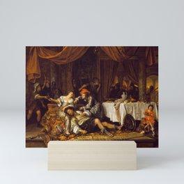 Jan Steen - Samson and Delilah Mini Art Print