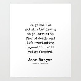 29 | John Bunyan Quotes| 201217 | Writer Of The Pilgrim's Progress' Art Print