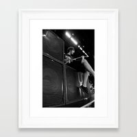 all time low Framed Art Prints featuring All Time Low - BONER by NeoStar Studios