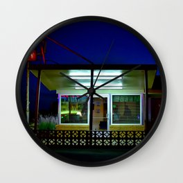Midnight Vacancy Wall Clock