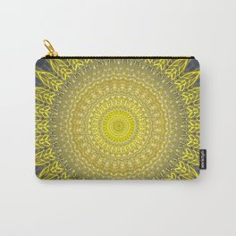 Bright Gold Navy Bohemian Mandala Carry-All Pouch