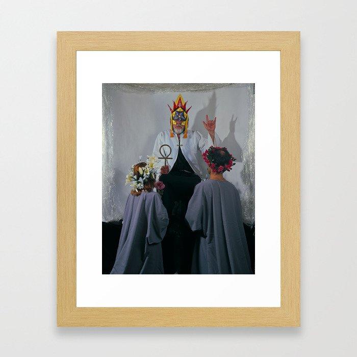 the Hierophant Framed Art Print