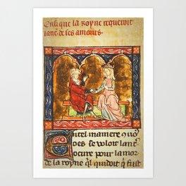 Arthur Legend 2 Lancelot and Guenevere Art Print