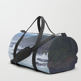 Crashing Waves In Blue Duffle Bag