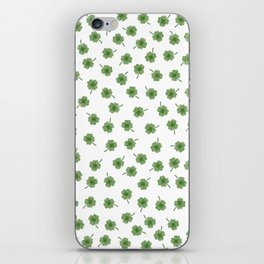 Light Green Clover iPhone Skin