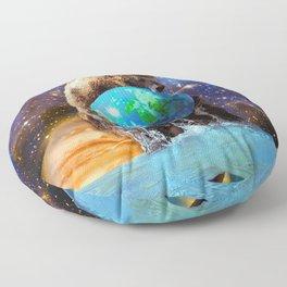 Give Planet Earth A Bear Hug! Floor Pillow