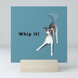 Whip it! (Blue-Gray) Mini Art Print